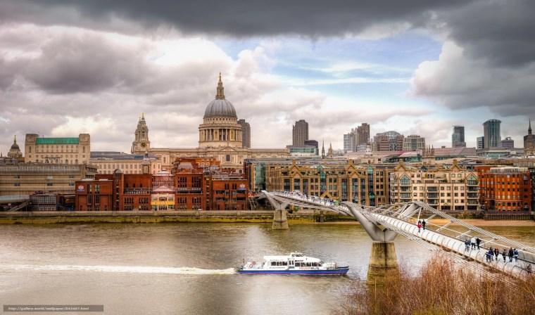 rio Tâmisa visto de cima a partir do Tate Modern em Londres