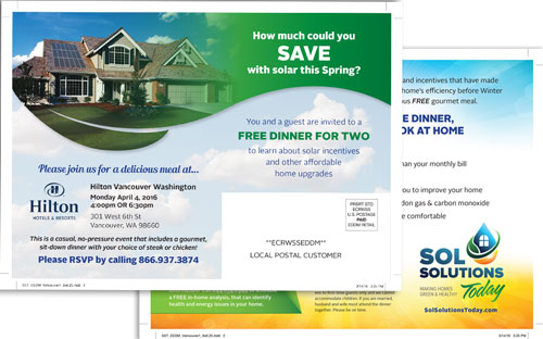 Sol Solutions Postcard Design