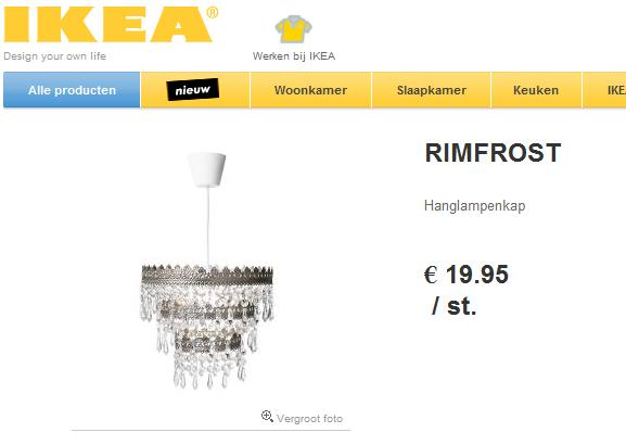 image courtesy of Ikea.nl. It's a lovely lamp