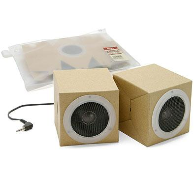 Paper/Card board fold out MP3 player speakers