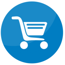 cart shopping simulator icon graphic checkout commerce manager
