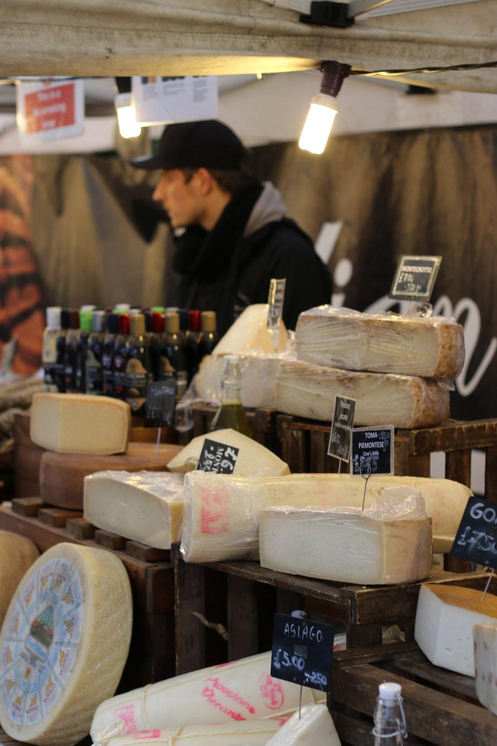Italian cheese stall