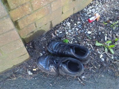 Abandoned shoes in Stoke on Trent