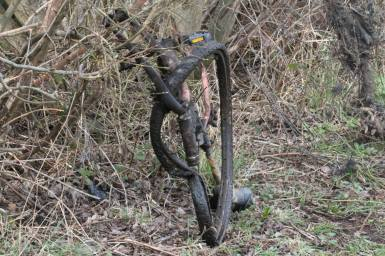 burnt bike Stoke on Trent