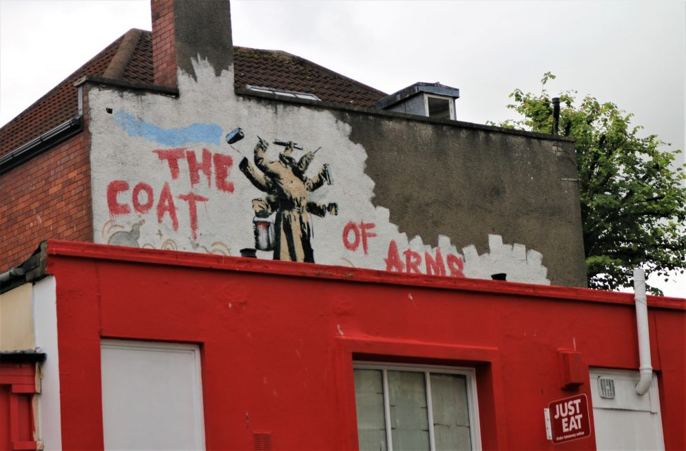 Street art Bristol, Coat of arms, Nick Walker