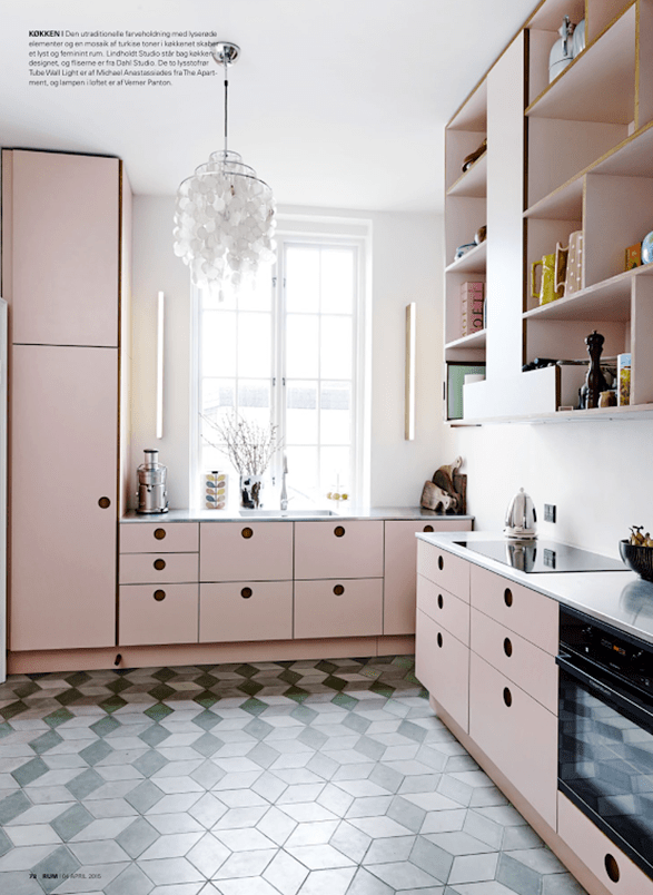 Inspiration Pink and Black Interiors  Checks and Spots