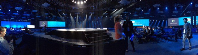 The main stage had an arena-like feel, as if this was a concert at Madison Square.