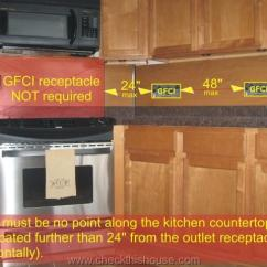 Kitchen Cabinet Spacing Glass Gfci Receptacle And Other Electrical Requirements ...