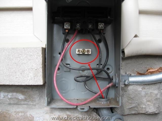 how to wire a house for electricity diagram 277 480v transformer wiring ac condenser disconnect | grounding - checkthishouse