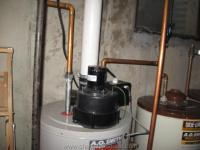 Gas Water Heater PVC Vent Pipe and WH Power Vent