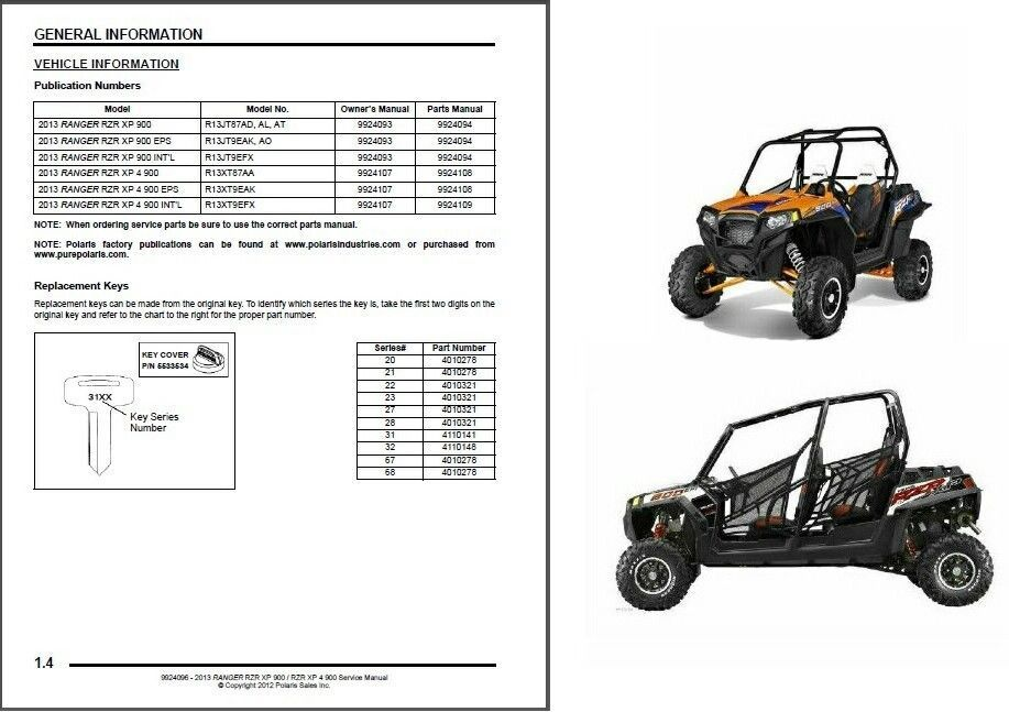 Polaris Ranger 900 Xp Service Manual
