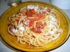 spaghetto alla crudaiola (trapanese) rivisitata