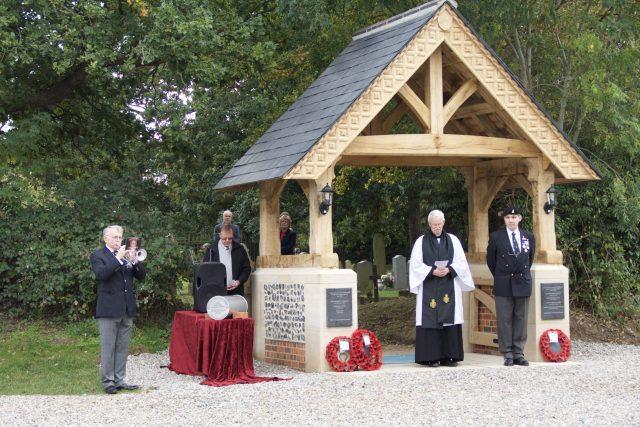 Lychgate Dedication Ceremony. The Last Post
