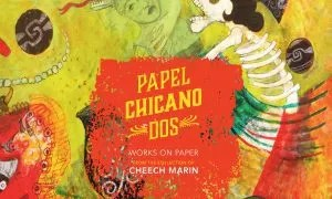 Papel Chicano Dos art exhibit featuring works on paper from the Cheech Marin hispanic art collection