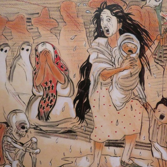 Retold Story of La Llorona #4 (Shunned by her Pueblo) by Sonya Fe from the Cheech Marin chicano art collection