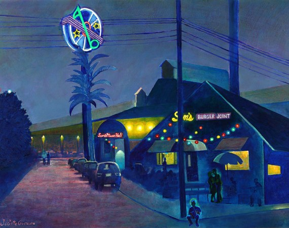 Sam's Burger Joint by Jacinto Guevara from Cheech Marin's Chicano Art Collection