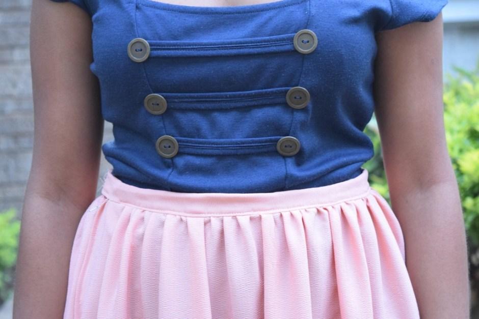 Cheekily Chic Pink Sailor Fashion 006
