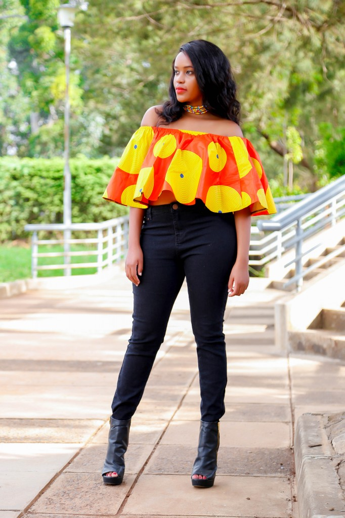 Cheekily Chic Bright and Breezy Ankara Off Shoulder 4