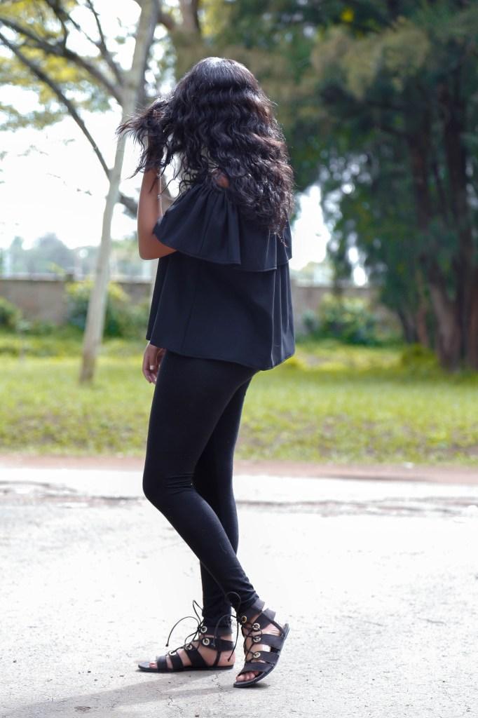 Cheekily Chic Sunny Days Off Shoulder Fashion Style 4
