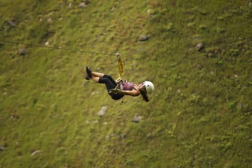 Zip-Lining in Peru