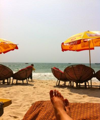 papsan chairs on beach sihanoukville cambodia