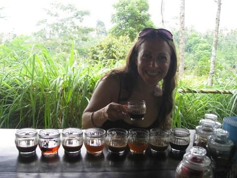 Coffee tasting at Cantik Coffee Plantation bali indonesia