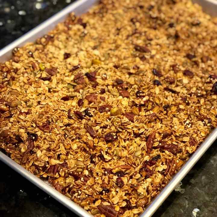 Holiday Quinoa Crunch Granola