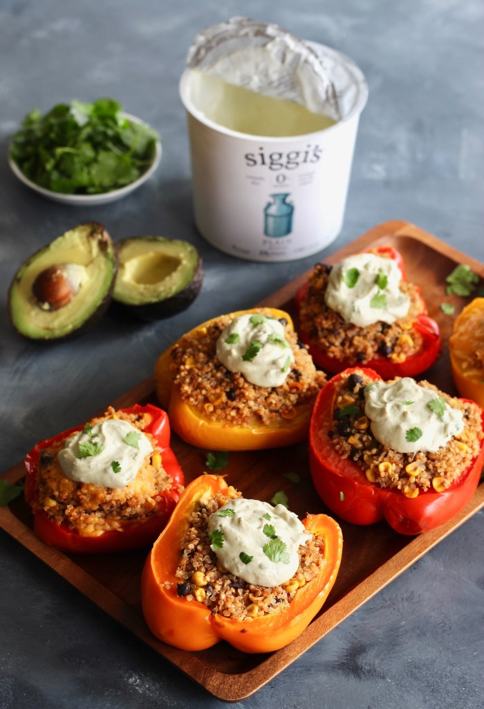 Serve up these Quinoa Stuffed Peppers filled with salsa, canned beans, and fresh spices (ingredients you likely already have on hand) in just one hour!