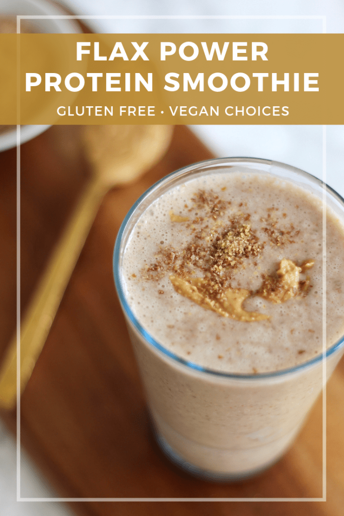 This Flaxseed Protein Smoothie is filled with the perfect mixture of protein-packed ingredients like peanut butter, ground flaxseeds, and greek yogurt. Customize it to your liking with ingredients of your choice.