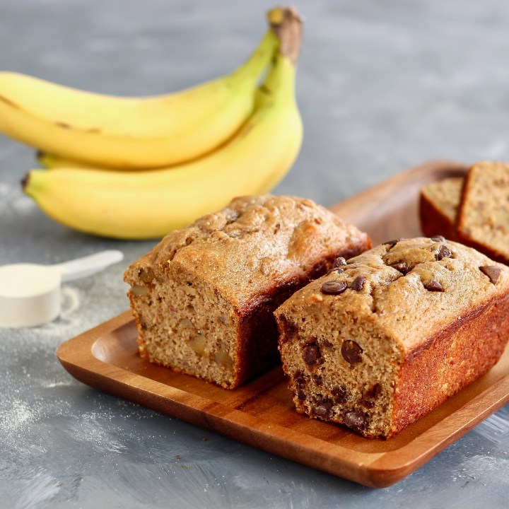 High Protein Collagen Banana Bread