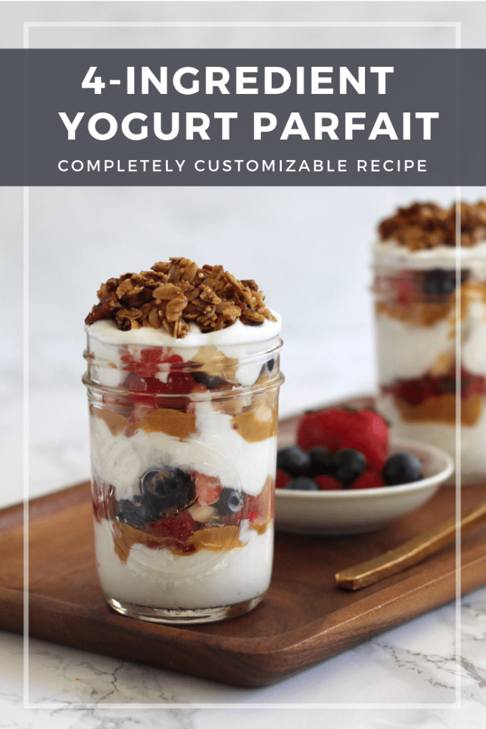 Throw this yogurt parfait together in 5 minutes or less. Completely customizable, protein-packed, and meal prep friendly.