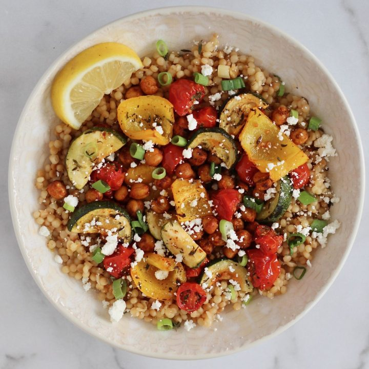 Roasted Chickpea Couscous Bowls