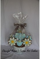 Mother's Day Wrapped  Cookie Bouquet by CheerfulMomma's Custom Art Cookies