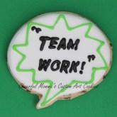 Team work speech bubble cookie