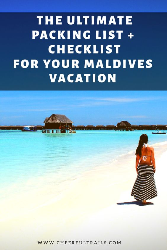 Ultimate Packing List For Maldives What To Pack For