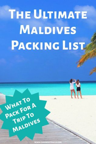Wondering What To Pack For Maldives ? Here's Our Ultimate Packing List For Your Trip To Maldives.