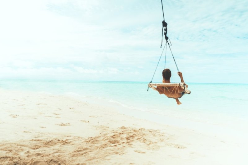 Relaxing on the beach - Booking a holiday