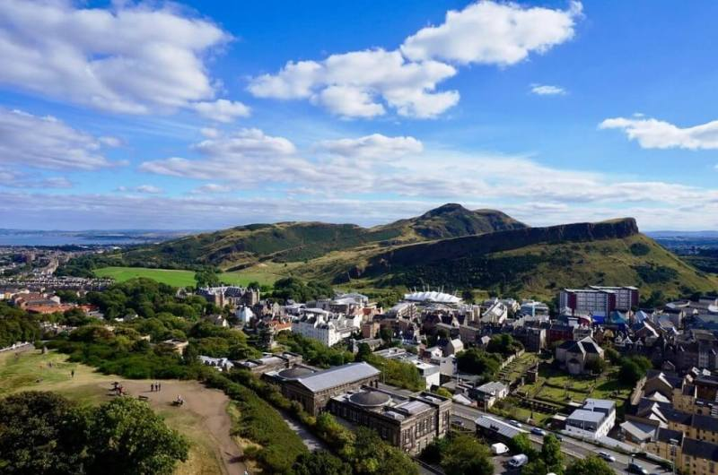 View from the Arthur's Seat in Edinburgh Itinerary