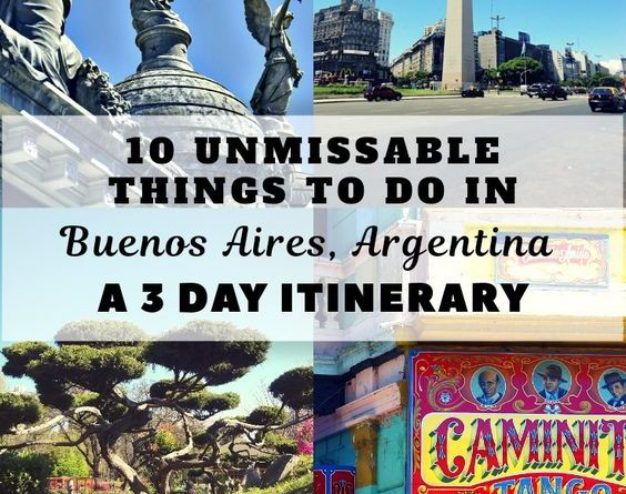 Lets discover all the unmissable things to do in Buenos Aires through this 3 day itinerary.