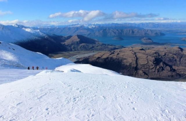 View from Treble Cone Snowfield