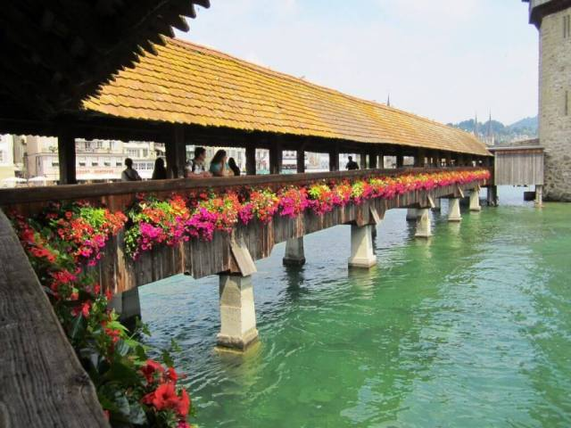 Chapel Bridge Lucerne's Old Town