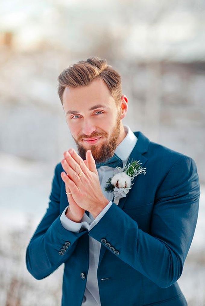 Traje noivo para casamento no inverno Cheers