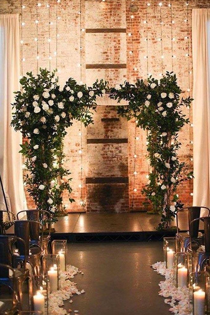 Decor altar para casamento no inverno Cheers
