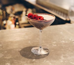 Smoked Chocolate Raspberry Martini
