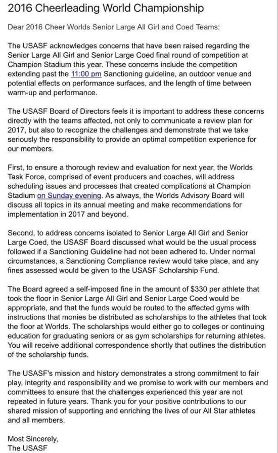 Heres a complete timeline of the drama that went down during large update may 5th 2016 usasf has issued an apology letter and they will fine themselves altavistaventures Gallery