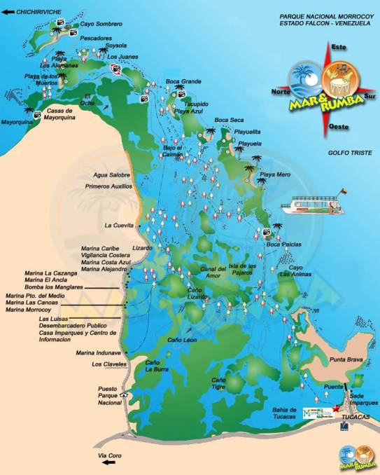 Map of the Cays