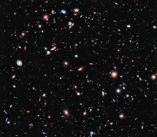Credit: NASA, ESA, G. Illingworth, D. Magee, and P. Oesch (University of California, Santa Cruz), R. Bouwens (Leiden University), and the HUDF09 Team