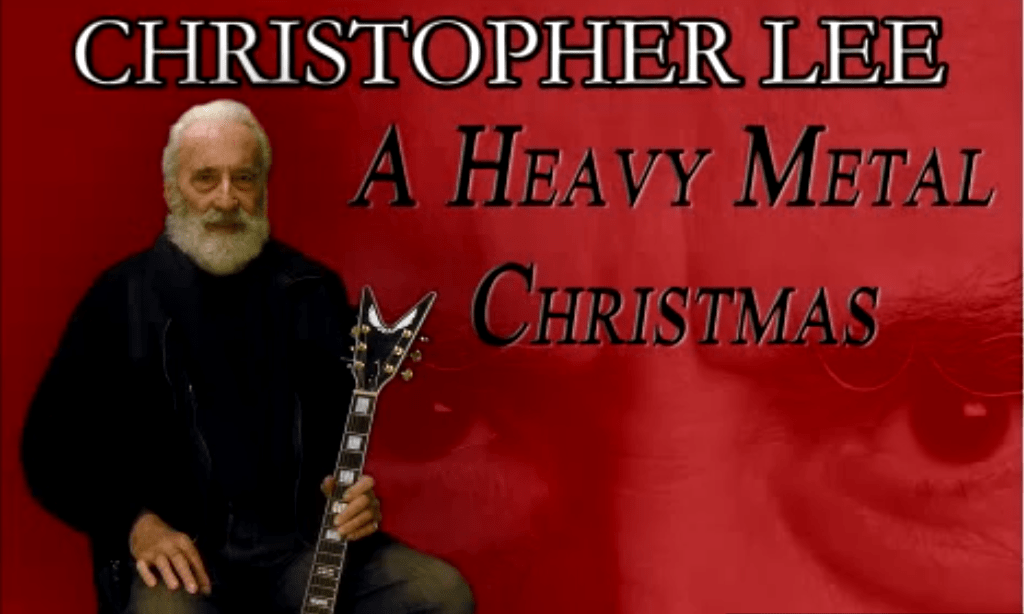 christopher lee heavy metal christmas