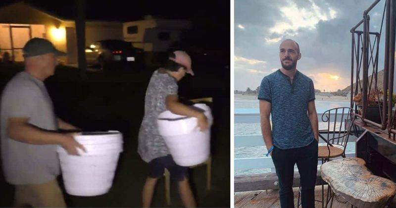 Los padres de Brian Laundrie quitan el letrero de Gabby Petito, las cestas de ropa frente a la casa