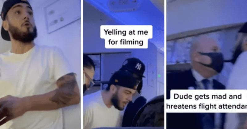 El hombre inició el vuelo de United luego de negarse a quedarse con la máscara y quitarse el teléfono